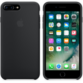 Apple Orijinal İphone 7 Plus 8 Plus Siyah Silikon Kılıf