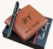 Bozuk Para Bölmeli Pierre Cardin Deri Erkek Cüzdan + Kalem
