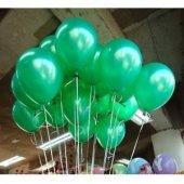 40 Adet Metalik Sedefli Koyu Yeşil Balon Doğum Günü Helyumla Uçan