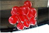 40 Adet Metalik Sedefli Kırmızı Balon Doğum Günü Helyumla Uçan