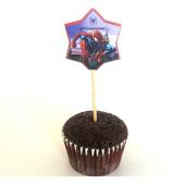 20 Adet Doğum Günü Sunum Kürdanı Elsa Cars Spiderman Diş 1yaş