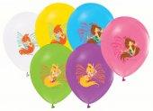 96 Adet Winx Baskılı Karışık Balonlar 12inç Ücretsiz Kargo Winks