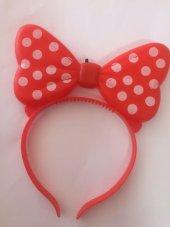 1 Adet Kırmızı Minnie Taç Işıklı Kulaklı Minnie Parti Malzeme
