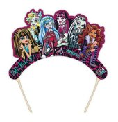 Monster Hıgh Karton Taç Şapka 6 Adet Kız Çocuk Doğum Günü