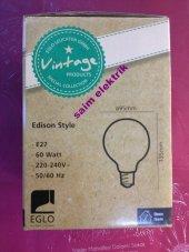15 Adet Edison Style Rustik Lamba 60w E27 A95 Glob
