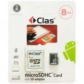Clas 8gb Micro Sd Hafıza Kartı Adaptörlü