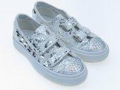 Tomurcukbebe Kız Çocuk Önü Taşlı Yazılı Ayakkabı