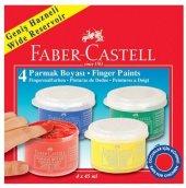 Faber Castell Parmak Boyası 4 Renk X 45 Ml