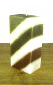 Dörtgen Mum Yeşil Beyaz