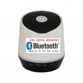 Frisby Fs P206bt Taşınabilir Mikrofonlu Bluetooth Kablosuz Bluetooth Beyaz Hoparlör Gerçek Ses Bombası