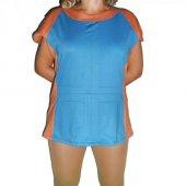 Mavi Kahverengi Viskon Tunik