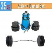 35kg Dambıl Seti Fitness Seti Ağırlık Seti+taşıma Çantası Z Bar