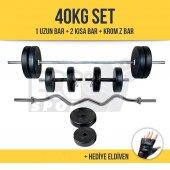 Ecg Hiperx 40kg Hdambıl Ağırlık Seti + Krom Z Bar