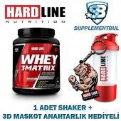 Hardline Whey 3matrix Çikolata 908 Gr. + 1 Shaker + 1 3d Maskot A