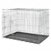 Trixie Plastik Tepsili Galvaniz Köpek Taşıma Kafesi 116x86x77cm