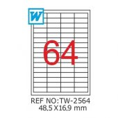 Tanex Tw 2564 Lazer Etiket 48,5x16,9mm 6400 Adet Etiket