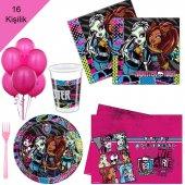 Monster High 16 Kişilik 8 Parça Doğum Günü Seti Malzemeleri