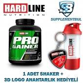 Hardline Progainer Çilek 3000 Gr. + 1 Shaker + 1 3d Logo Anahtarl