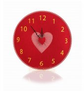 Tfa Keçe Kalpli Duvar Saati Kırmızı