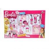 Barbie Sesli Ve Işıklı 14 Parça Oyuncak Doktor Seti Lisanslı
