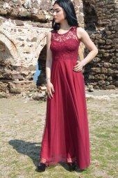 Uzun Elbise Dantel Tül Mezuniyet Abiye Düğün Nikah Balo Nişan Elb