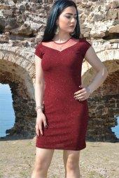 Kısa Elbise Abiye Simli Mezuniyet Düğün Balo Nikah Nişan Elbise 3