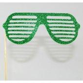 Parti Gözlüğü Simli Yeşil 14 Cm