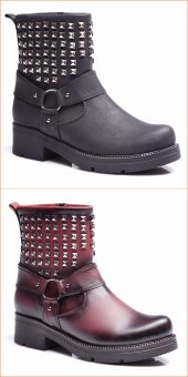 Aldora Trend Yeni Sezon Bordo & Siyah Bayan Bot