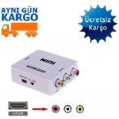 Hdmı To Rca Tos Av Çevirici Dönüştürücü Converter Adaptor 1080p
