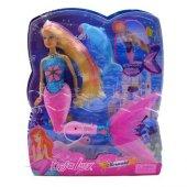 Deniz Kızı Işıklı Mermaid Bebek Yunuslu