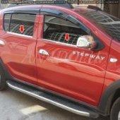 Dacia Sandero Stepway Krom Cam Çıtası 4 Parça 2013...