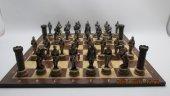 Satranç Takımı Orta Çağ Şövalyeleri Kaliteli Ve Detaylı Polyester Döküm El Boyama