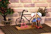 Metal Bisikletli Romantik Sevgili Biblo