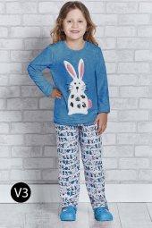 Roly Poly 2161 10 16 Yaş Garson Boy Kız Çocuk Pijama Takımı