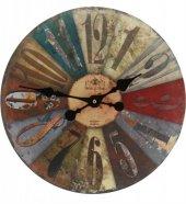 Ahşap Yuvarlak Dekoratif Duvar Saati 50x50