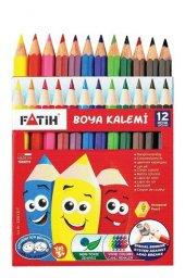 Fatih 12 Renk Kısa Kuru Boya Seti 0132