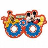 6 Adet Mickey Karton Gözlük Erkek Doğum Günü Parti Malzemesi