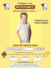 Istanbulhasyün 2 Adet Çocuk Yün Fanila Antialerjik İnce Dokuma