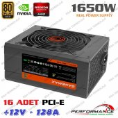 Gamemax Gm 1650 80 Plus 1650w Power Supply 14cm Fanlı Sertifikalı 16 Adet Vga Çıkışlı Pc Btc Mining Güç Kaynağı