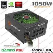 Gamemax Gm 1050 80 Plus Silver 1050w Modüler Kablolu Sertifikalı Profesyonel Power Supply Güç Kaynağı 14cm Sessiz Fanlı
