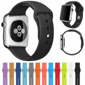 Apple Watch 2 3 4 Seri 42mm Ve 44mm Silikon Kordon...