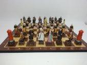 Satranç Takımı, Kanuni Sultan Süleyman Ve Roma, Polyester Döküm, El Boyama, Hediyelik,