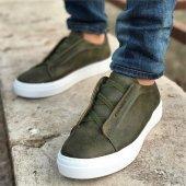 Chekich Bağcıksız Haki Erkek Ayakkabı