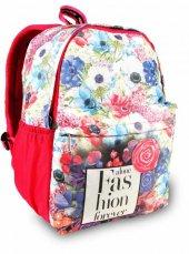 Alone Çanta 8559 Kız Çocuk Sırt Çantası (Çiçek Desenli)