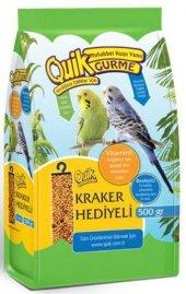 Quik Gurme Muhabbet Kuşu Yemi 500 Gr (Kraker Hediyeli)