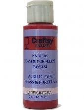 Craftsy Enamel Akrilik Cam Ve Porselen Boyası E 357 Mercan Kırmızı