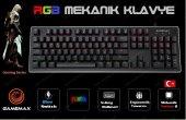 Gamemax Gm X560qu Rgb Işıklı Gerçek Mekanik Gaming Oyuncu Klavyesi Blue Switch
