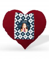 Kişiye Özel Baskılı Kalp Yastık Model 8