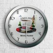 Kişiye Özel Mesleki İngilizce Öğretmeni Ahşap Duvar Saati 6