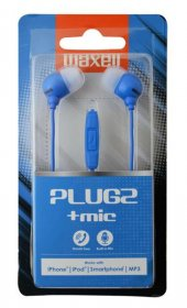 Maxell Plugz Mavi Kulakiçi Mikrofonlu Kulaklık 303761